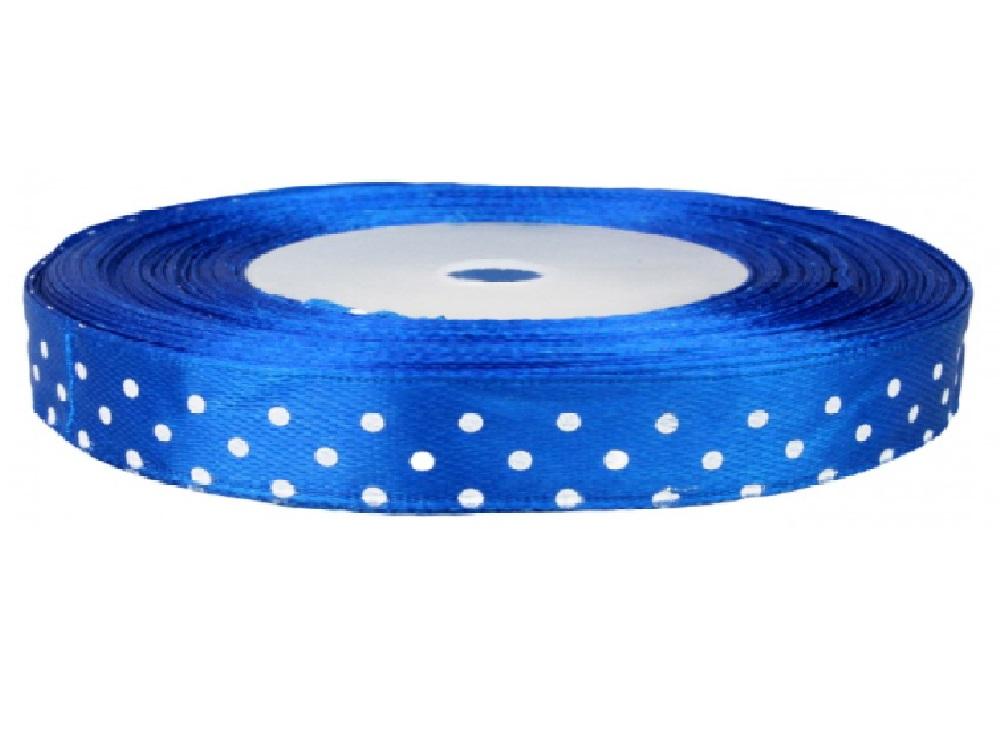 Wstążka niebieska w kropki