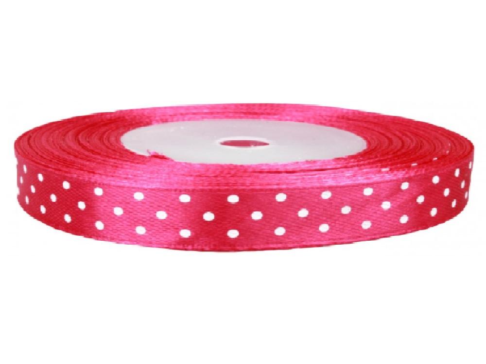 Wstążka różowa w kropki