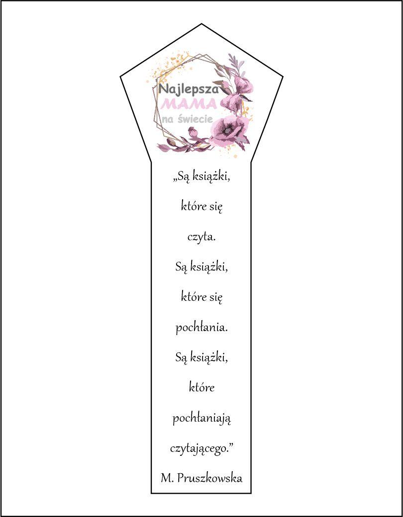 Zakładka do książki motyw różowy